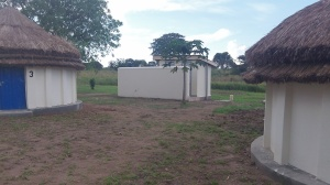 New latrine and bathing station for pastor's quarters