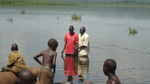 This is a picture of previous baptism in the Nile River.