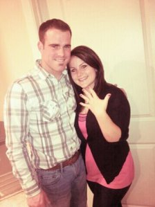 Kenny and Anna on their engagement night Feb 14, 2012