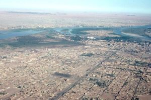 Khartoum Sudan-The Blue and White Nile joining together