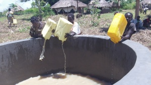 These ladies and others hauled water for our construction needs some distance. The