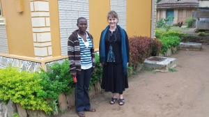 Here Carol is with Lucy. She is our full time help in the house. Her pleasant personality, good cooking, and excellent work ethic is a great blessing! In this picture Carol and I were visiting her family in Moyo.