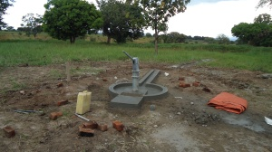 Our new R.A.U. well. Thank you Jesus! Our next step will be to build a tower for 10,000 liter tank which will gravity feed all our systems. We also hope to get a solar pump installed.