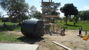 Setting the water tank