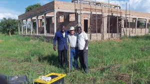 We are standing at the sight of our new bore hole. I am with the two great brothers from World Harvest International who located this prime spot!