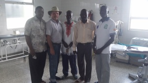 With Moyo Hospital Officials
