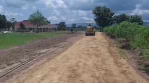 The nicest driveway in Northwestern Uganda