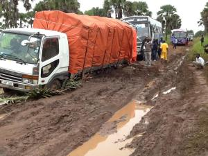 These are the road conditions in our area during the rainy season