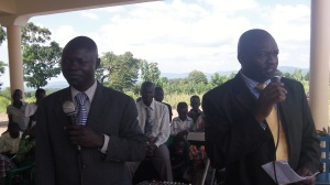 "The Member of Ugandan Parliament for this area gave a speech welcoming RAU and thanking RAU. After speaking he cut the ribbon officially declaring the Guesthouse open ""for the glory of God"". (See video below)"