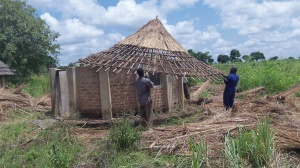 Refurbishing the remaining four tukalu's on the land. They are not far from the Guesthouse. Many of the native pastor's will feel more comfortable staying in these instead of the Guesthouse. We hope to build 4-5 more. They cost about $500 to build and will sleep 4-5.