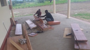 Carpenters at work.