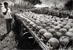 Some of the victims of the Idi Amin regime recovered by local farmers in the fertile fields of the Luwero Triangle region