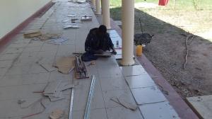 Veranda Tile work