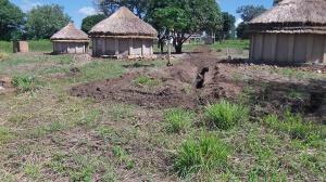 Sight for tukalu latrine and wash station