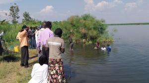 "Making open proclamation in Obongi ""I follow Jesus!"""