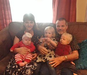 Carol and I with our grandchildren