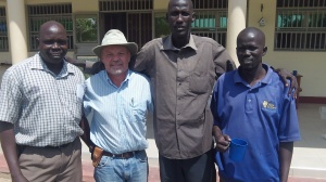 With Daniel (the tall one) who is a Dinka from Bor South Sudan
