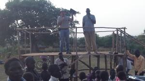 Open air preaching Yumbe Town