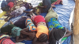 Children resting during our lunch break