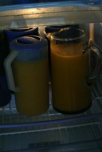 Fresh mango pineapple juice