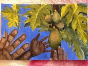 Papaya painting