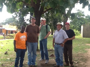In Moyo town with the guys from Tennessee