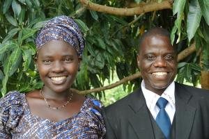 Pastor Ben posing with his wife. Their young son was not present for the picture