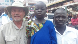 With Anzo and Mindra in Kampala