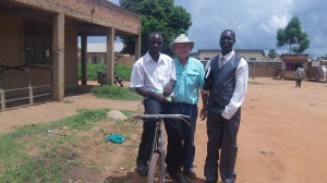 With John and Charles who are faithful followers of Jesus in Yumbe.  They are excellent interpreters. We were met with many challenging questions from Muslims who would agree to talk with us.