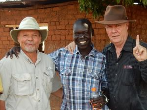 Heading RAU from Arua with John and Charles